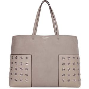 Tory Burch Suede Block T Grommet Tote French Grey